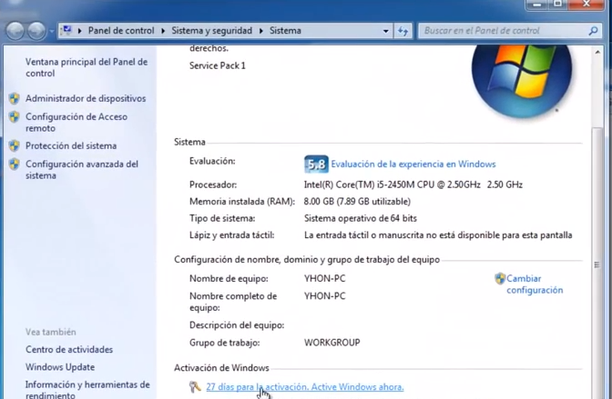 clave de activacion de windows 7